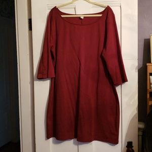 Old Navy Plus Red Shift Dress
